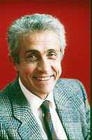 Gino Giugni, è stato un politico, giurista, avvocato e accademico italiano che ha ricoperto un ruolo chiave nella stesura dello Statuto dei lavoratori. Milano, 21 maggio 1986. Photo by Leonardo Cendamo