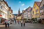 Deutschland, Baden-Wuerttemberg, Region Heilbronn-Franken, am Ende des Taubertals, Wertheim: Altstadt mit Marktplatz, Fussgaengerzone | Germany, Baden-Wuerttemberg, Tauber Valley, Wertheim: old town with Market Square, pedestrian area