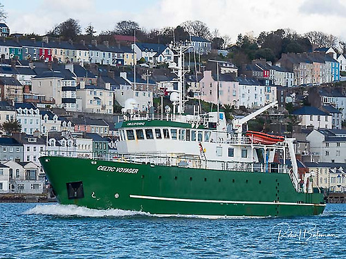 R.V. Celtic Voyager is on marine survey work in the south Irish Sea