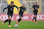 Marvin Pourie (Kaiserslautern, 9) am Ball beim Spiel in der 3. Liga, FC Bayern München II -1. FC Kaiserslautern.<br /> <br /> Foto © PIX-Sportfotos *** Foto ist honorarpflichtig! *** Auf Anfrage in hoeherer Qualitaet/Aufloesung. Belegexemplar erbeten. Veroeffentlichung ausschliesslich fuer journalistisch-publizistische Zwecke. For editorial use only. DFL regulations prohibit any use of photographs as image sequences and/or quasi-video.