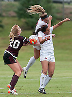 NWA Democrat-Gazette/BEN GOFF @NWABENGOFF<br /> Arkansas vs Mississippi State soccer on Sunday Sept. 20, 2015 at Razorback Field in Fayetteville.