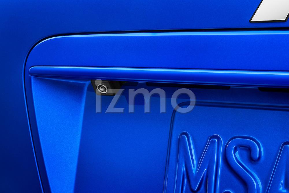 Closeup view of a backup camera lens on a 2012 Mitsubishi Lancer Sportback GT