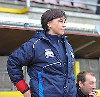 1/2 Halve finale Beker van Belgie ; Waasland Beveren Sinaai Girls - Standard Femina de Liege : Hilde Clessens.foto DAVID CATRY / Vrouwenteam.be