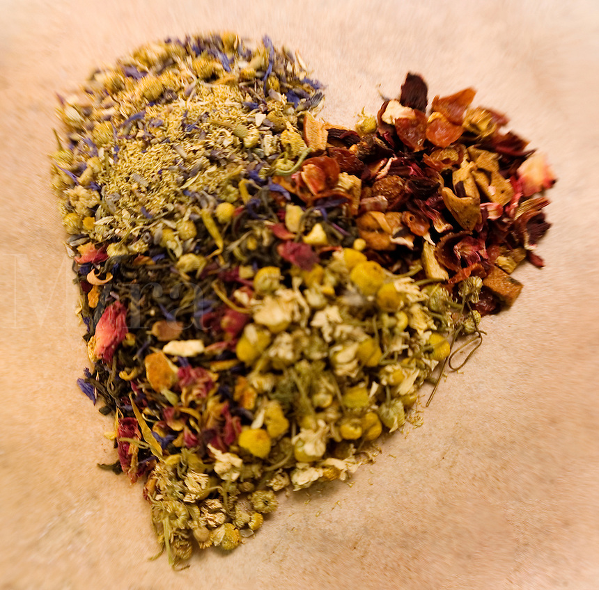 Heart Shape Loose Leaf Teas..