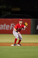 AZL Angels second baseman Zane Gurwitz (8) on defense against the AZL White Sox on August 14, 2017 at Diablo Stadium in Tempe, Arizona. AZL Angels defeated the AZL White Sox 3-2. (Zachary Lucy/Four Seam Images)
