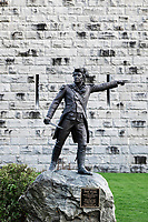 General John Stark statue at the Battle of Bennington monument, Bennington, Vermont, USA.