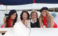 ****NO FEE PIC****.(L to r).French Mademoiselle Sinead Noonan .An Cathaoirleach of DLR, Cllr. Lettie McCarthy.Her Excellency Emmanuelle D'Achon French Ambassador to Ireland.French Mademoiselle Suzanne McCabe .at the National Yacht Club Dun Laoghaire to launch Festival Des Bateaux which takes place between August 11th and 14th 2011 .Dun Laoghaire will be the only international stop on the world famous French Solitaire du Figaro yacht race.  To celebrate the stopover of this iconic 3,390 km race, Dun Laoghaire Rathdown County Council, the Dun Laoghaire Harbour Company and the National Yacht Club have joined forces to create Festival des Bateaux.  The harbour will be a magnificent tapestry of colour as the boats arrive for this international event.  Dun Laoghaire will be resplendent with fireworks, music and the sights, sounds, foods, and 'joie de vivre' of France..Photo: Gareth Chaney Collins