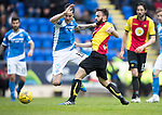 St Johnstone v Partick Thistle…13.05.17     SPFL    McDiarmid Park<br />Paul Paton is brought down by Steven Lawless but no penalty was awarded<br />Picture by Graeme Hart.<br />Copyright Perthshire Picture Agency<br />Tel: 01738 623350  Mobile: 07990 594431