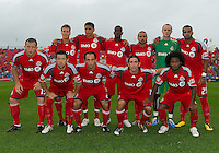 24 July 2010:   Toronto FC starting eleven during a game between FC Dallas and Toronto FC at BMO Field in Toronto..The final score was a 1-1 draw...