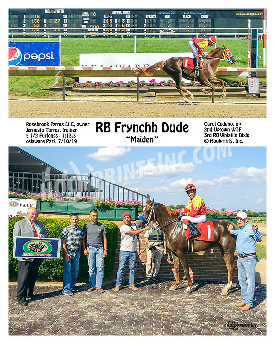 RB Frynchh Dude winning at Delaware Park on 7/10/19