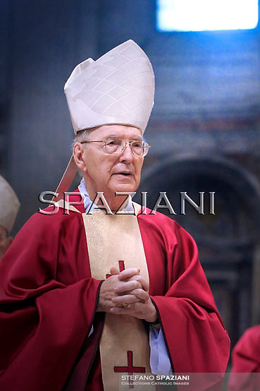 Cardinal Francesco Marchisano,Pope Benedict XVI celebrates a mass for Cardinals who died during the year on November 4, 2010 at St Peter Basilica at The Vatican.
