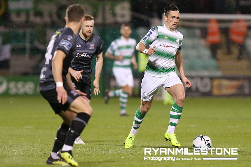 SSE Airtricity League Premier Division,<br /> Shamrock Rovers vs Dundalk <br /> Friday 1st March 2019,<br /> Tallaght Stadium, Dublin.<br /> Aaron McEneff of Shamrock Rovers<br /> Mandatory Credit: Michael P Ryan