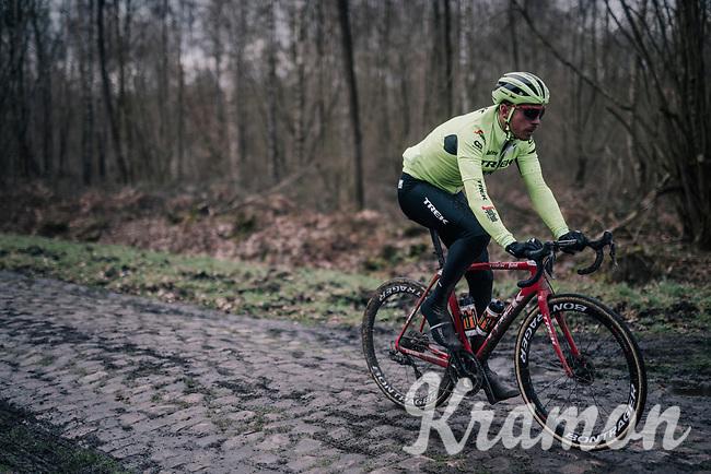 Boy van Poppel (NED/Trek-Segafredo)<br /> <br /> Team Trek-Segafredo during parcours recon of the 116th Paris-Roubaix 2018, 3 days prior to the race