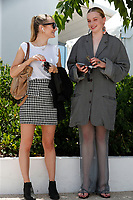 """CANNES, FRANCE - JULY 15: (R) Swiss actress Luna Wedler at the """"A Felesegem Tortenete/The Story Of My Wife"""" photocall during the 74th annual Cannes Film Festival on July 15, 2021 in Cannes, France. <br /> CAP/GOL<br /> ©GOL/Capital Pictures"""
