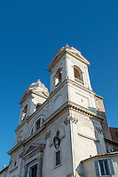 Trinità dei Monti church located at the top of the Spanish Steps, Rome, Italy
