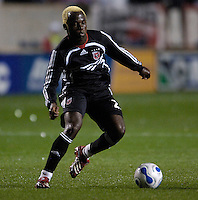 D.C. United forward Guy-Roland Kpene (20). The Chicago Fire defeated D. C. United 1-0 during the first leg of the MLS Eastern Conference Semifinal Series at Toyota Park in Bridgeview, IL, on October 25, 2007.