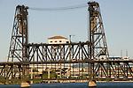 The Steel Bridge over the Willamette River, Portland, Oregon