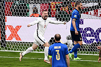 Sport Bilder des Tages 11th July 2021; Wembley Stadium, London, England; 2020 European Football Championships Final England versus Italy; Luke Shaw turns in ceebration as he scores for 1-0 in the 2nd minute of the game
