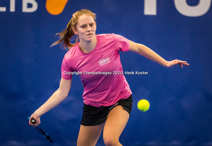 Amstelveen, Netherlands, 17  December, 2020, National Tennis Center, NTC, NK Indoor, National  Indoor Tennis Championships,   :  Sophie Schouten (NED) <br /> Photo: Henk Koster/tennisimages.com