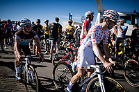 at the finish up Mont Aigoual<br /> <br /> Stage 6 from Le Teil to Mont Aigoual (191km)<br /> <br /> 107th Tour de France 2020 (2.UWT)<br /> (the 'postponed edition' held in september)<br /> <br /> ©kramon