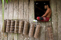 Paulo Silva, 29 anos, matapis fora da água..<br /> Rio Aurá.<br /> Belém, Pará, Brasil<br /> Foto Paulo Santos<br /> 19/03/2013