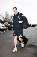 Photo: Richard Lane/Richard Lane Photography. London Wasps depart for Abu Dhabi for their LV= Cup game against Harlequins on 30st January 2011. 25/01/2011. London Wasps's captain, Ben Jacobs departs for Abu Dhabi.