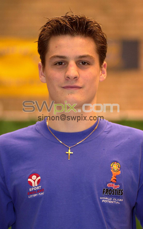 Pix:Ben Duffy/SWpix...World Class Potential Swimming camp(Boys ages 14-17)...23/02/2001..COPYRIGHT PICTURE>>SIMON WILKINSON..Ross Hughes, pictured at the British World Class swimming camp