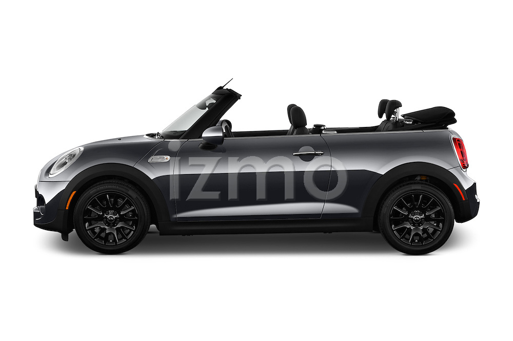 Car Driver side profile view of a 2017 MINI Cooper S 2 Door Convertible Side View