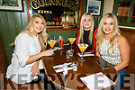 Jessica Tuohy, Shauna and Megan Moriarty enjoying the evening in the Mall Tavern on Friday.