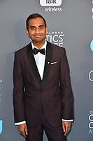 Aziz Ansari at the 23rd Annual Critics' Choice Awards at Barker Hangar, Santa Monica, USA 11 Jan. 2018<br /> Picture: Paul Smith/Featureflash/SilverHub 0208 004 5359 sales@silverhubmedia.com