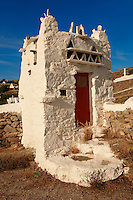 The dove-cote of the Folklore Museum. Mykonos Upper Chora. Cyclades Islands, Greece