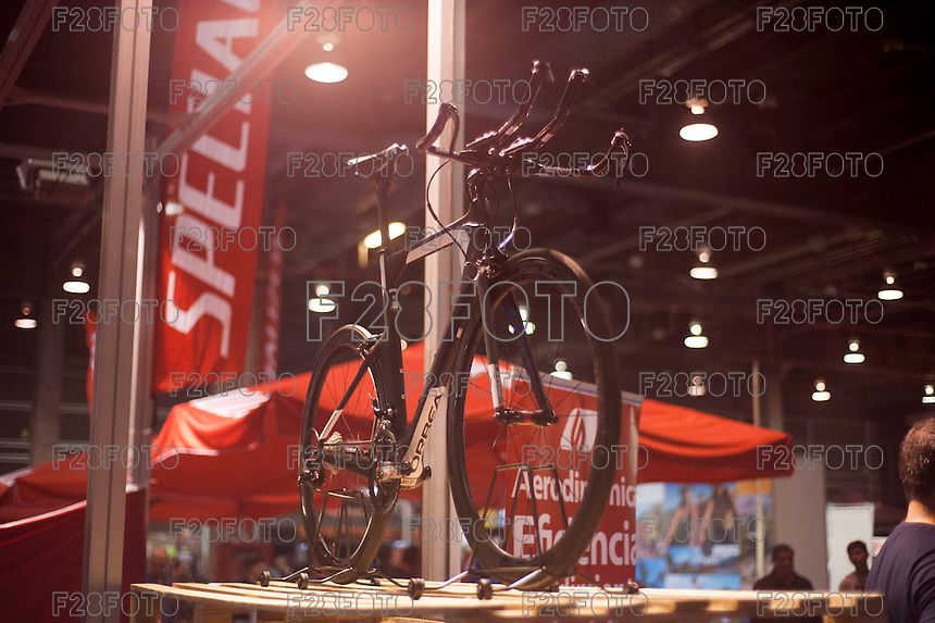 VALENCIA, SPAIN - NOVEMBER 7: Orbea stand during DOS RODES at Feria Valencia on November 7, 2015 in Valencia, Spain