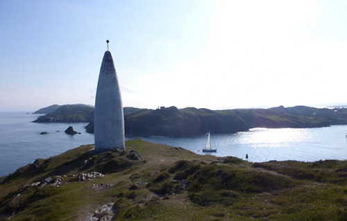 The Beacon at Baltimore Harbour on the West Cork coast