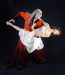 "Hua Zhuang and Maria Mosina in the costumed roles of Dracula and Mina in the Colorado Ballet production...COVER ART FOR OCT 5 SPOTLIGHT. WE NEED THE STUDIO AT 11 A.M. SO THAT SUBJECTS CAN PUT ON COSTUMES AND MAKE-UP..Ghoulish shots of Colorado Ballet dancers Hua Zhuang (call him ""Whaah"") and Maria Mosina in the costumed roles of Dracula and Mina in the company's production of ""Dracula."" The shoot is at noon, but they'll need an hour in the studio to get set up. Get solo shots of Dracula and shots of him with Mina. Company people will be on hand to dress the dancers and to set up the poses. Check with Rassenfoss for his thoughts on cover art."