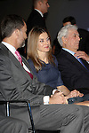 Prince Felipe of Spain and Princess Letizia of Spain attend the 'El Canon del Boom' literary congress at the Casa de America on November 5, 2012 in Madrid, Spain. .(ALTERPHOTOS/Harry S. Stamper)