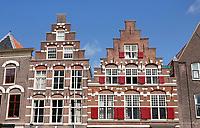 Nederland Leiden - 2021.  Trapgevels aan de Steenschuur in Leiden.  Foto ANP / Hollandse Hoogte / Berlinda van Dam
