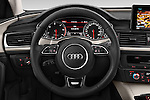 Car pictures of steering wheel view of a 2015 Audi A6 Allroad Quattro - 5 Door Wagon Steering Wheel