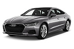 2018 Audi A7 Sportback S Line 5 Door Hatchback angular front stock photos of front three quarter view