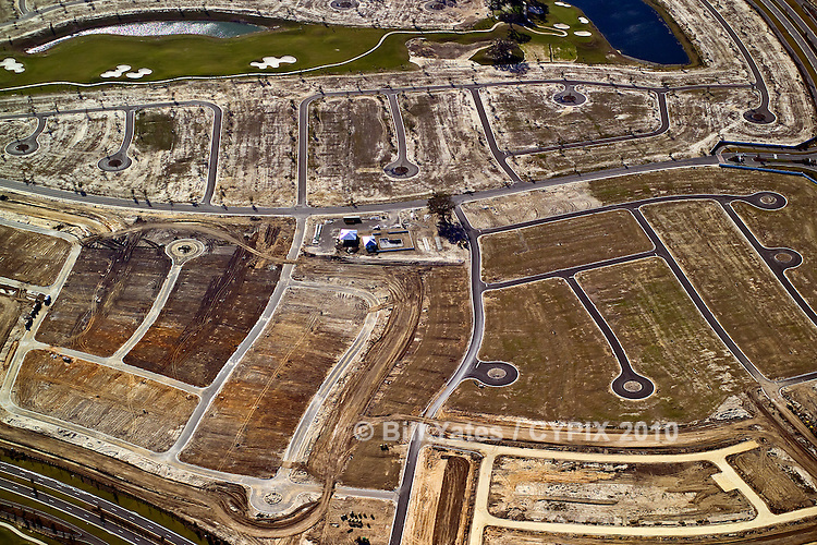Golf course and residential development under construction, North Florida