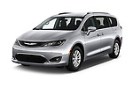 2018 Chrysler Pacifica Touring-L Plus 5 Door Mini Van angular front stock photos of front three quarter view