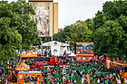 September 1, 2018; ESPN Gameday on Library Quad before the season opening game against Michigan. (Photo by Matt Cashore)