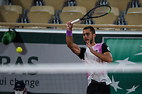 4th July 2021; Roland Garros, Paris France; French Open tennis championships day 6;  Laslo Djere ( Serbia )