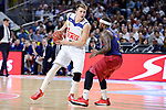 Real Madrid's Luka Doncic and FC Barcelona Lassa's Tyrese Rice during Liga Endesa match between Real Madrid and FC Barcelona Lassa at Wizink Center in Madrid, Spain. March 12, 2017. (ALTERPHOTOS/BorjaB.Hojas)