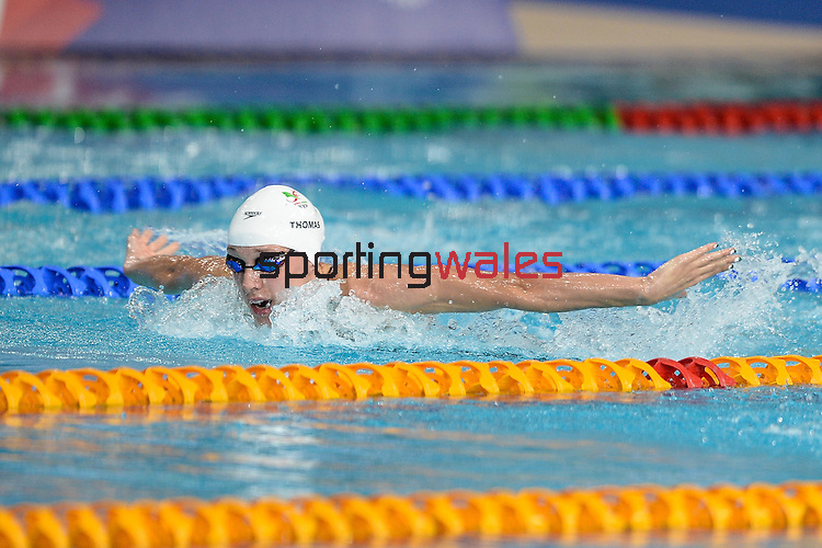 Wales Alys Thomas in action during todays heats <br /> <br /> Photographer Ian Cook/Sportingwales<br /> <br /> 20th Commonwealth Games - Swimming -  Day 4 - Monday 28th July 2014 - Glasgow - UK