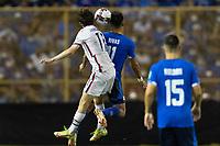SAN SALVADOR, EL SALVADOR - SEPTEMBER 2: Brenden Aaronson #11 of the United States during a game between El Salvador and USMNT at Estadio Cuscatlán on September 2, 2021 in San Salvador, El Salvador.