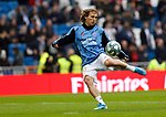 Real Madrid CF's Luka Modric  warms up before the Spanish La Liga match round 20 between Real Madrid and Granada CF at Santiago Bernabeu Stadium in Madrid, Spain