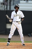 UCF Knights shortstop Darnell Sweeney #21 at bat during a game against the Siena Saints at the UCF Baseball Complex on March 3, 2012 in Orlando, Florida.  UCF defeated Siena 6-4.  (Mike Janes/Four Seam Images)