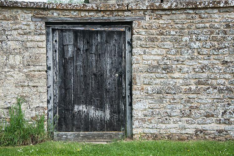Door into farmyard, Rousham House and Garden.