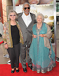 Dr. Birute Mary Galdikas,Morgan Freeman and Dame Daphne M. Sheldrick at The Warner Bro. Pictures' World Premiere of Born to be Wild 3d held at The California Science Center in Los Angeles, California on April 03,2011                                                                               © 2010 Hollywood Press Agency