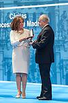 Ana Botella and Jose Varela Ortega during the Medalla de Oro de Madrid (Madrid´s golden medal) awards ceremony at Madrid´s city hall. May 5, 2014. (ALTERPHOTOS/Victor Blanco)